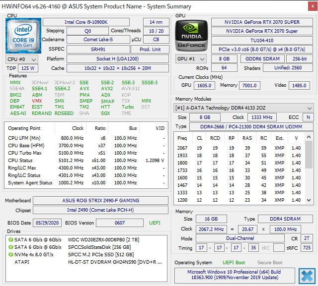 HWiNFO64 DDR4-4133