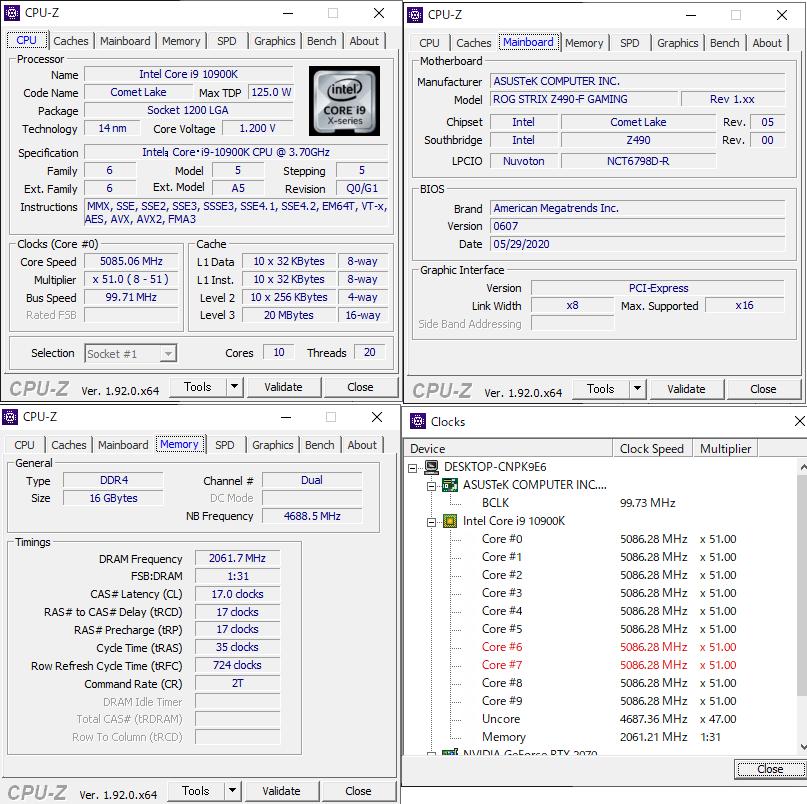 CPU-Z 10900K 2
