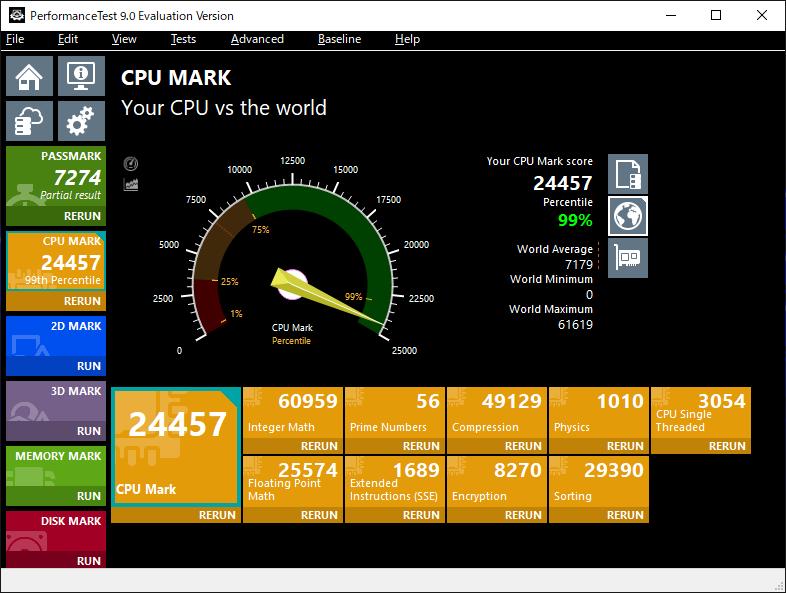 PerformanceTest CPU