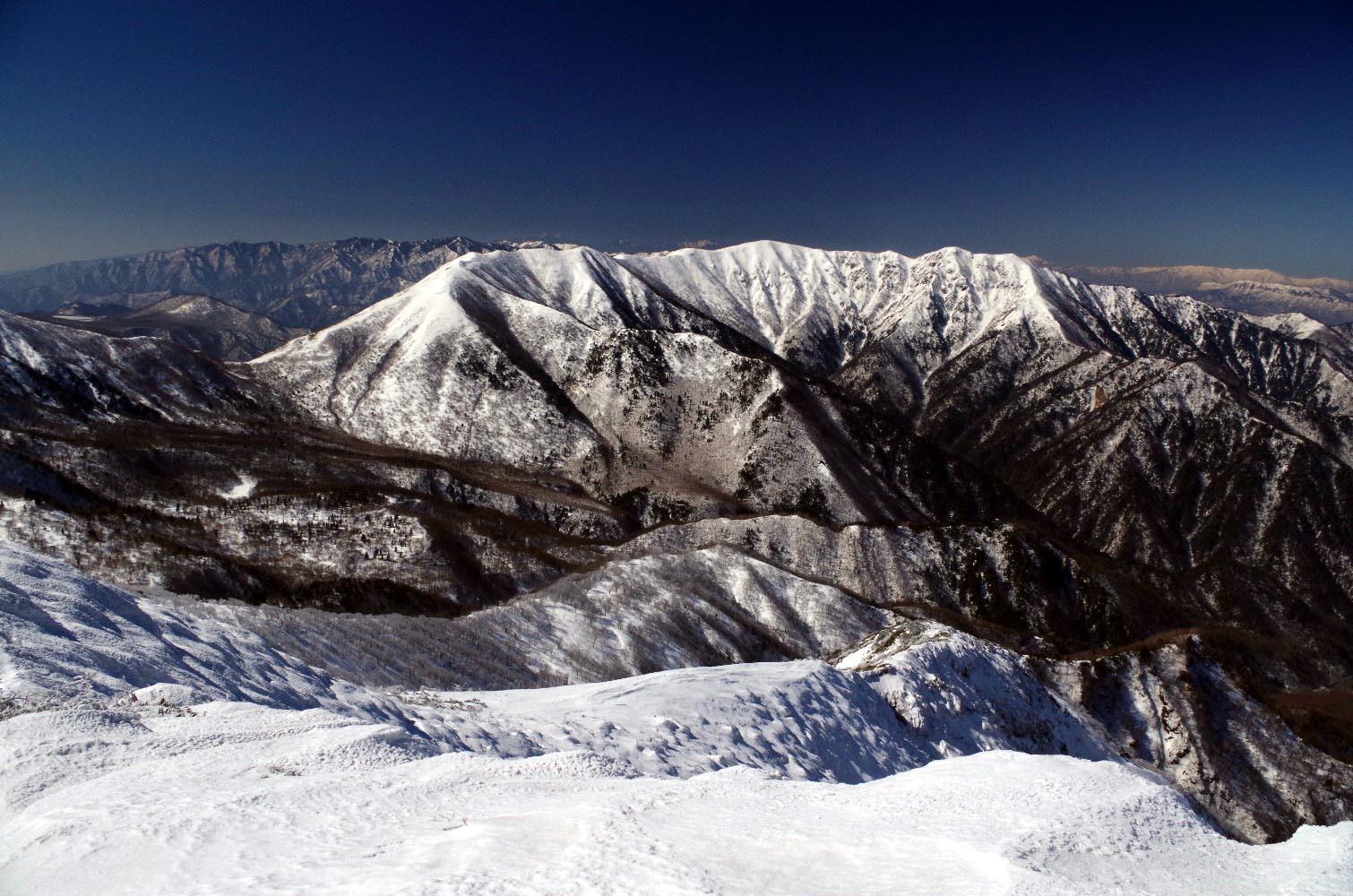 山頂からの流石