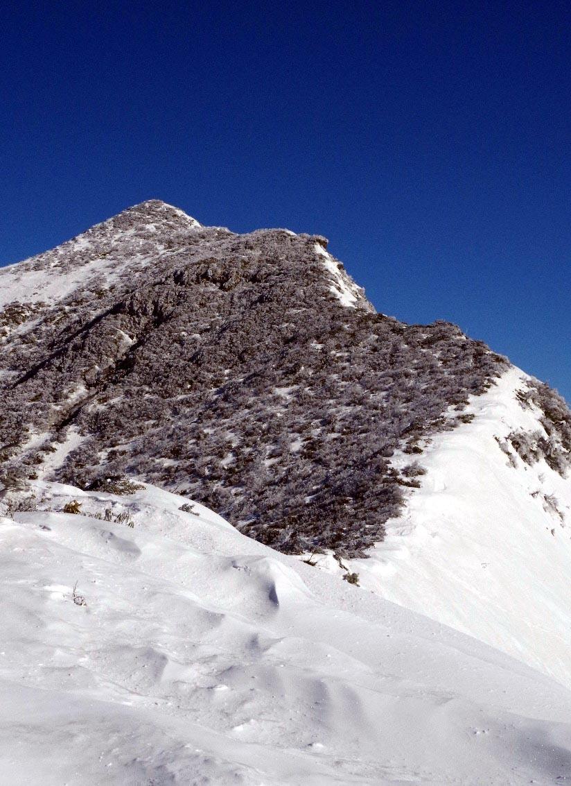 西稜から望む山頂