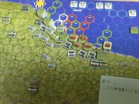 第3ターン ドイツ軍砲撃フェイズ終了