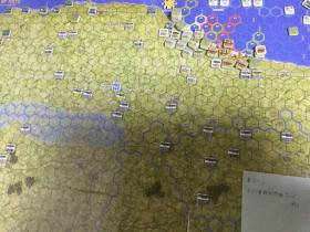 第3ターン ドイツ軍移動フェイズ終了