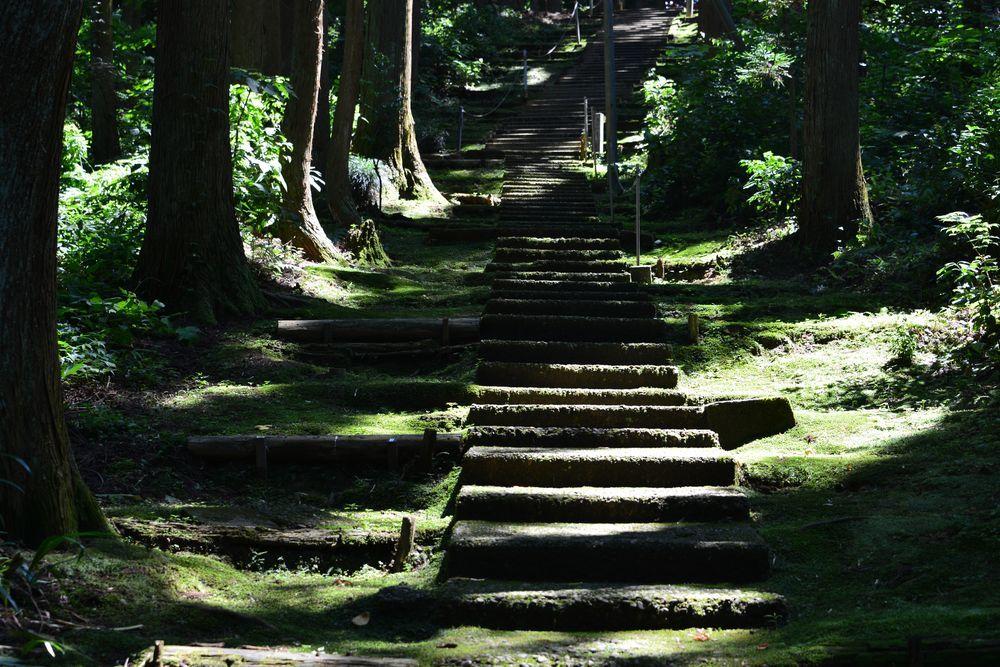 石動神社石段-5