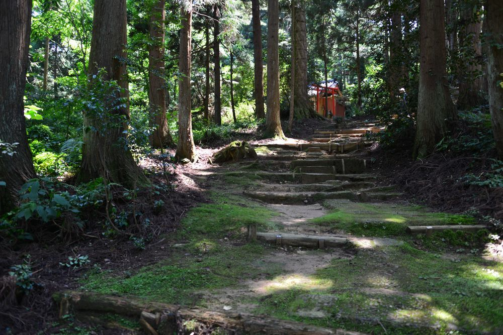 石動神社石段-7