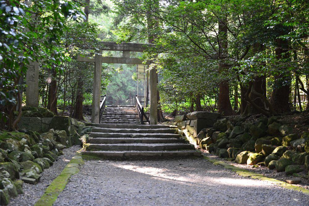 真夏の神社-2