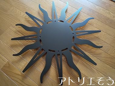太陽妻飾り 。錆に強いステンレス製妻飾り