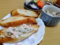 200412鮭とぬか漬けキュウリのマヨディップ