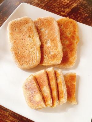 ダブルチーズの平焼きパン