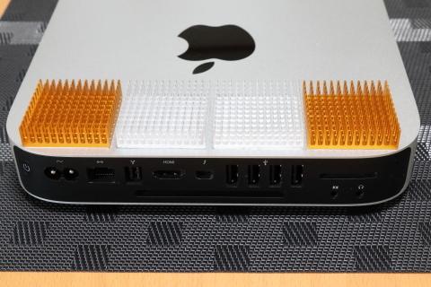 Mac miniにヒートシンクを付けてみた