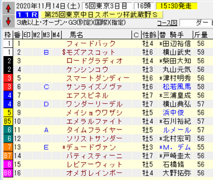 20武蔵野S