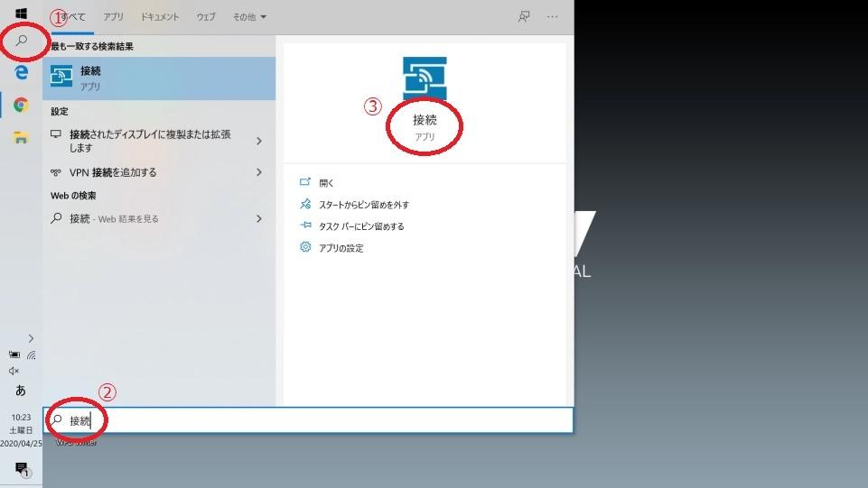 ノートPCの2画面化