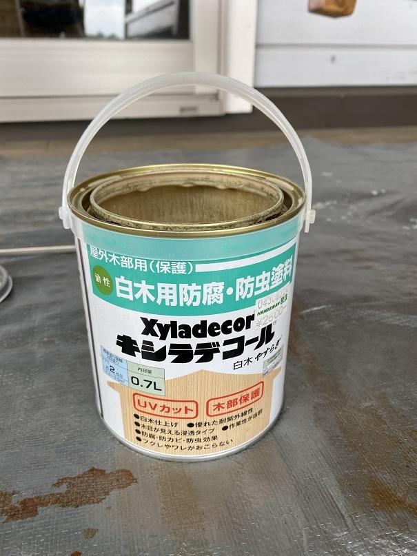 ベンチ塗装 (7)