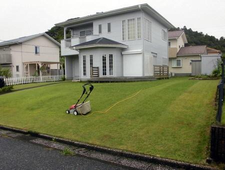 芝刈り途中