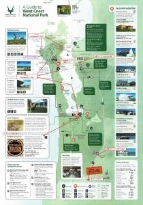 West Coast NP 料金所でもらえる地図