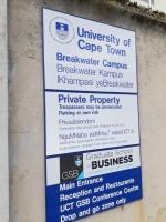 Breakwater刑務所跡 入口看板