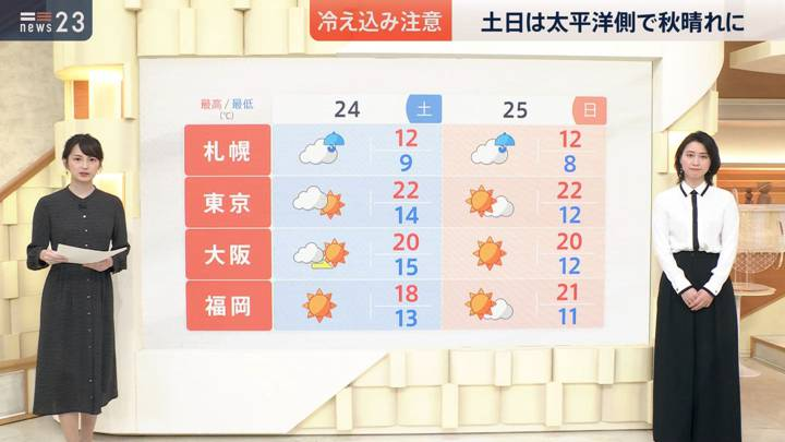 2020年10月23日小川彩佳の画像06枚目