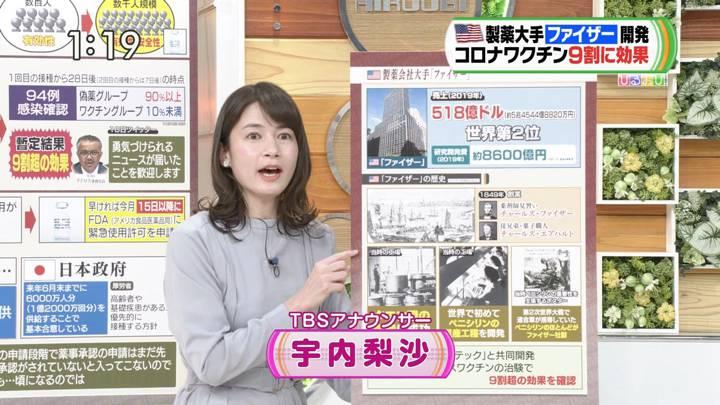 2020年11月11日宇内梨沙の画像01枚目