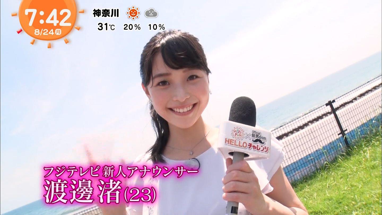 フジ 渡邊 テレビ 渚