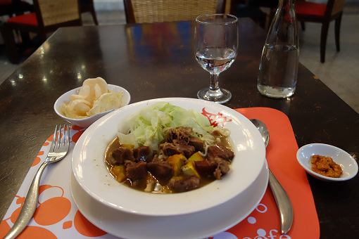 高めのインドネシア料理
