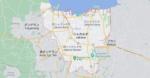 ジャカルタ地図