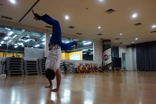 練習はスペースを使って動く練習を主にやりました。