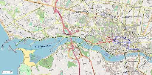 市内にはドウロ川が横切って流れます