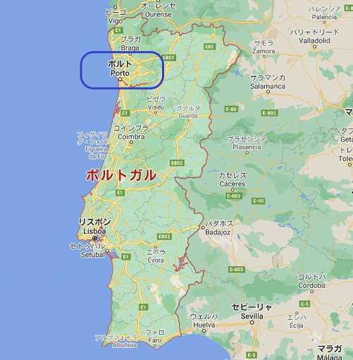 ポルトガル国内地図