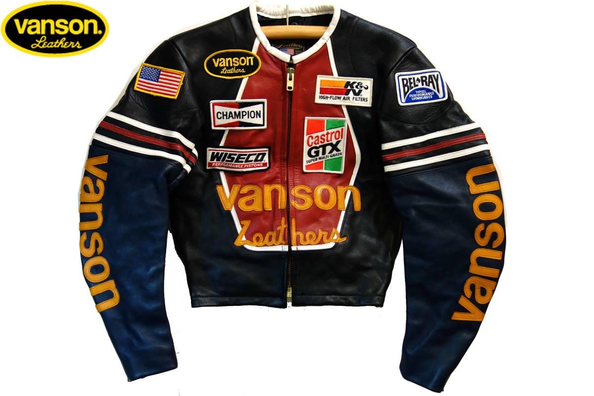 お買取商品バンソンVANSON新品同様ワンスターシングルライダースジャケット黒36ONESTAR