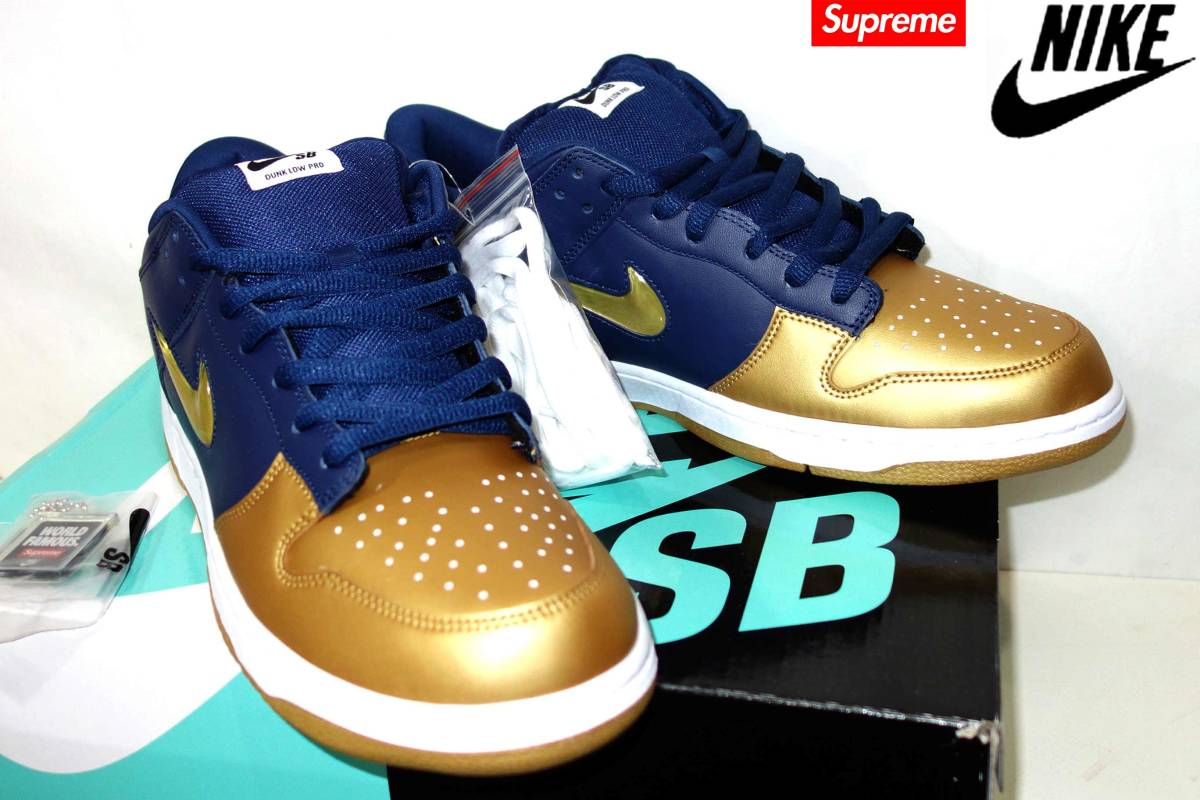 お買取り商品ナイキNIKE×シュプリームSupremeスニーカーシューズ靴 SB DUNK LOW OG QSダンクローSB 31cm新品19AW