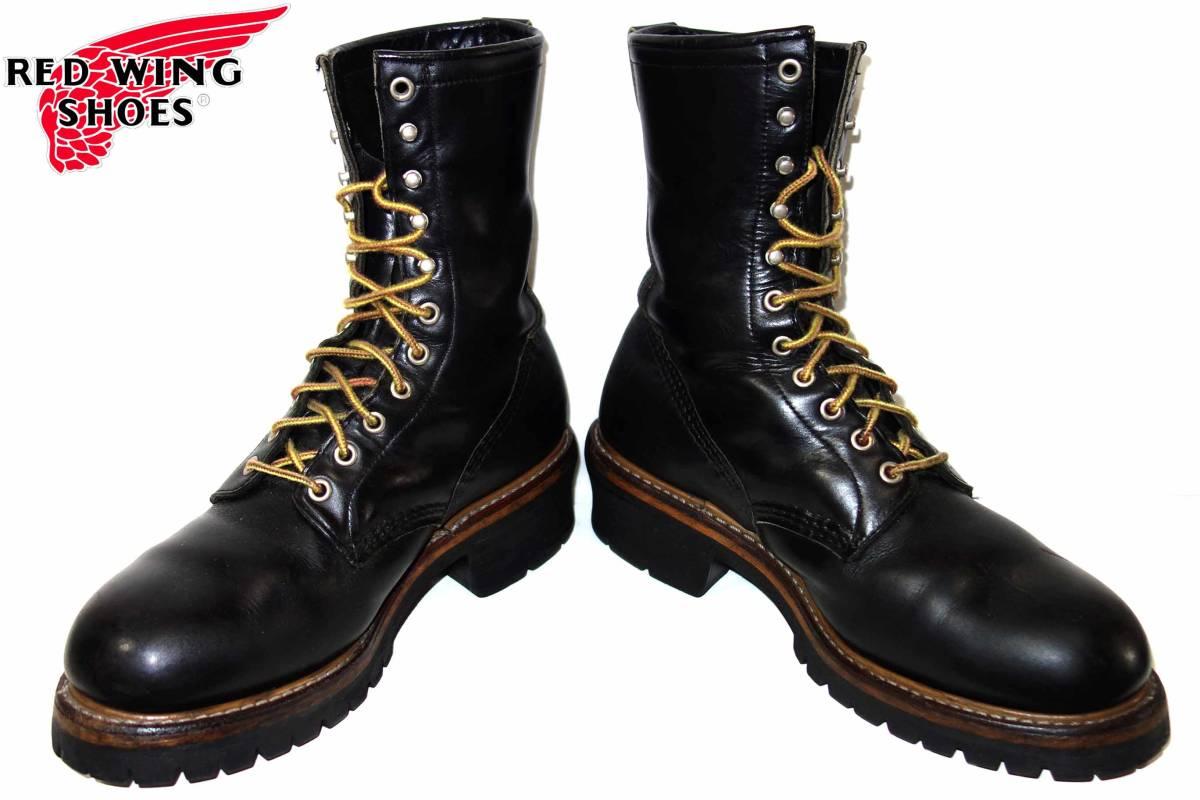 お買取り商品レッドウィングREDWING美品PT91ロガーブーツ2218 9と1/2 ワイズD 黒