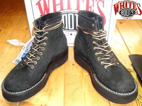 お買取り商品ホワイツブーツWHITE'S BOOTSースウエストNW350ブーツスエード黒9EE