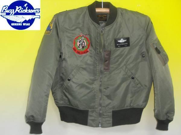お買取商品バズリクソンズBUZZRICKSONSフライトジャケットBR12281 MA-1 306thTac Ftr Squadron31stTac Ftr