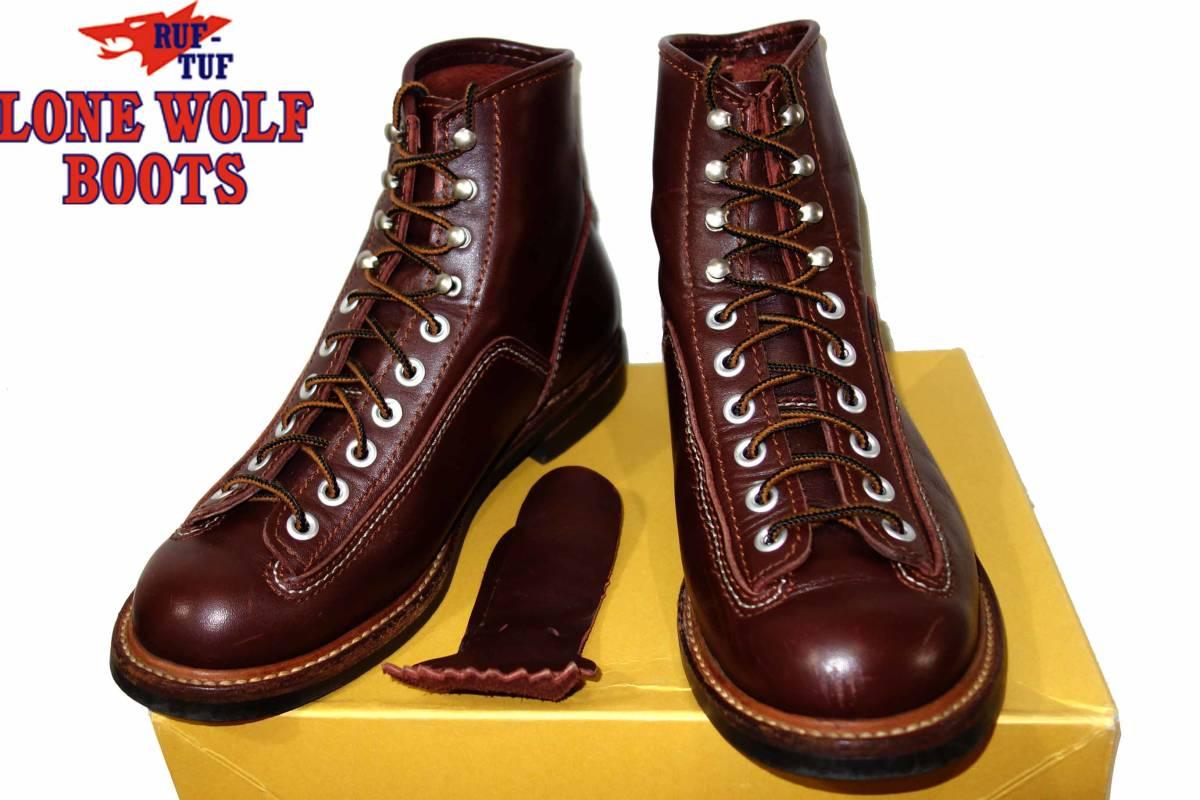 お買取り商品ロンウルフLONEWOLFBOOTS美品カーペンターワークブーツF01615茶138ブラウン