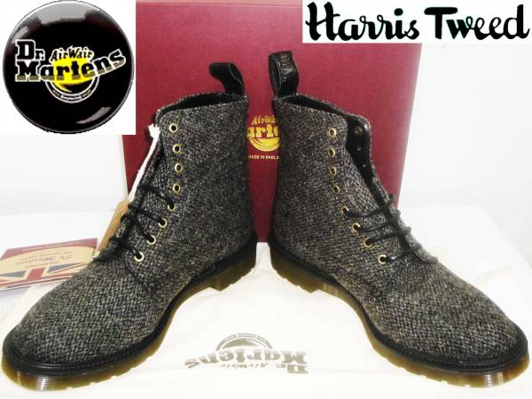 お買取商品ドクターマーチンDr. Martensブーツ 14632250 BECKETT STONE BEIGE MIE BECKETT 8EYE BOOT HARRIS TWEED