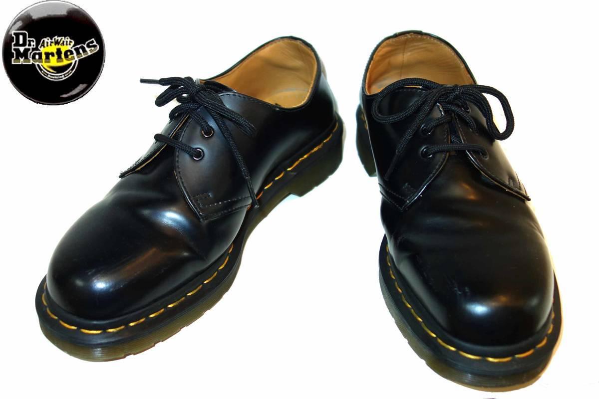 お買取商品ドクターマーチンDr. Martens美品1461 3ホールブーツ黒UK7