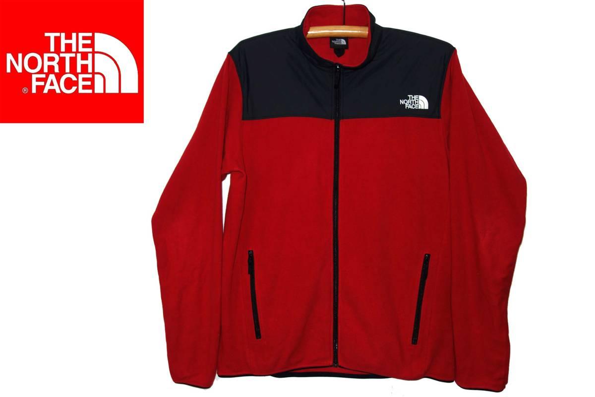 お買取り商品ノースフェイスTHENORTHFACE美品マウンテンバーサマイクロフリース赤黒XL  MTN VERSA MICRO JK  NL61804
