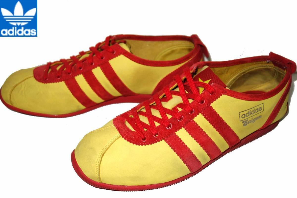 お買取商品アディダスADIDSシューズSAIGONヌバックスニーカー黄色×赤26.5cmサイゴン