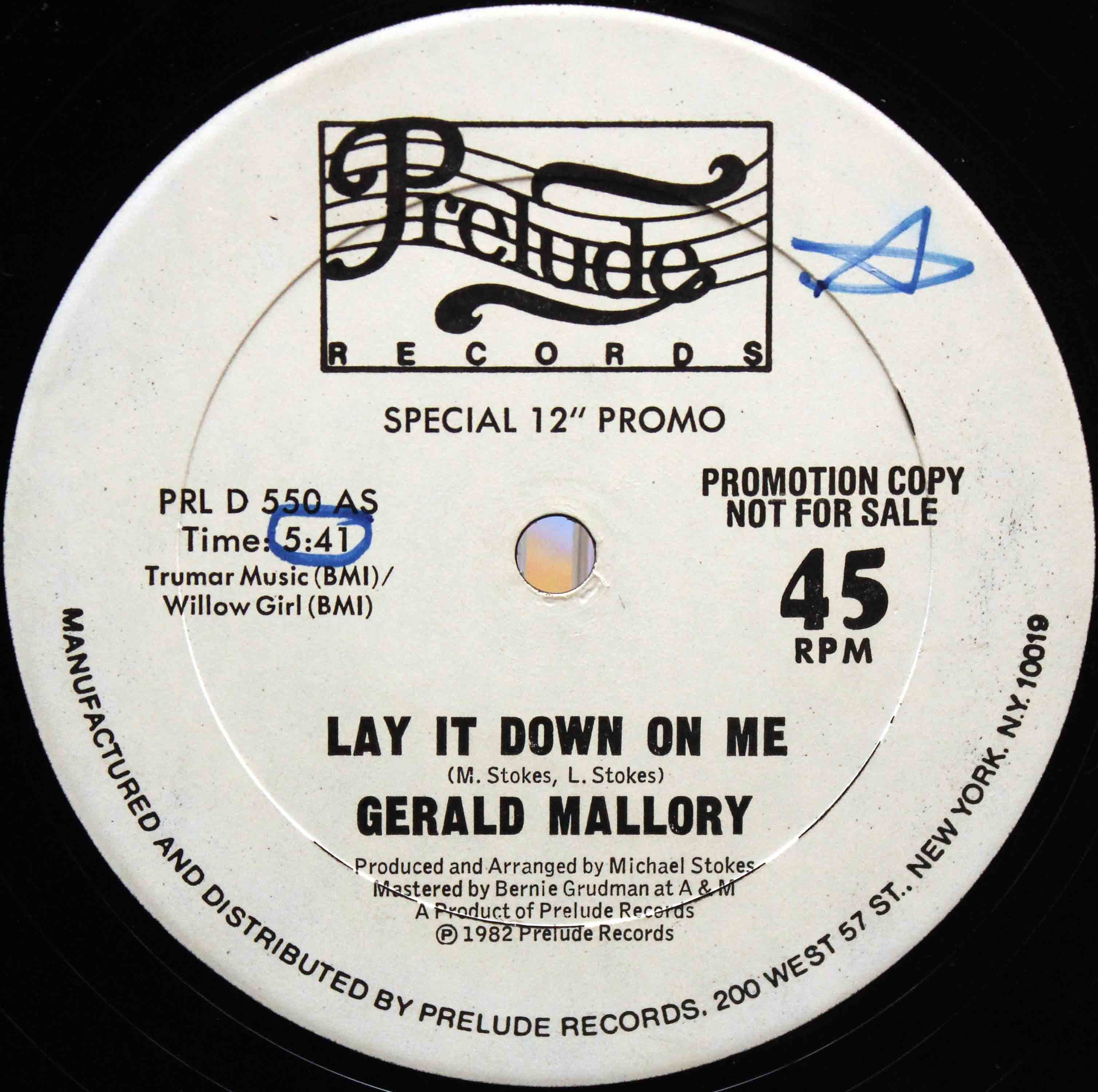 Gerald Mallory ‎– Lay It Down On Me 02