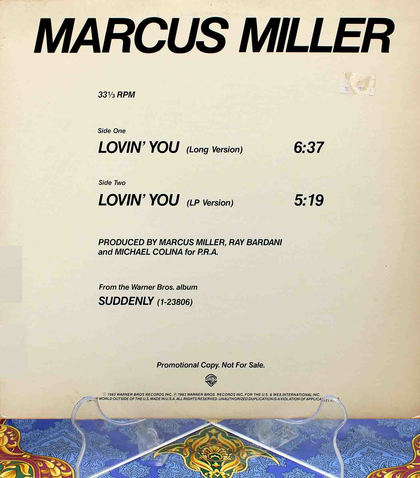 Marcus Miller – Lovin You 01
