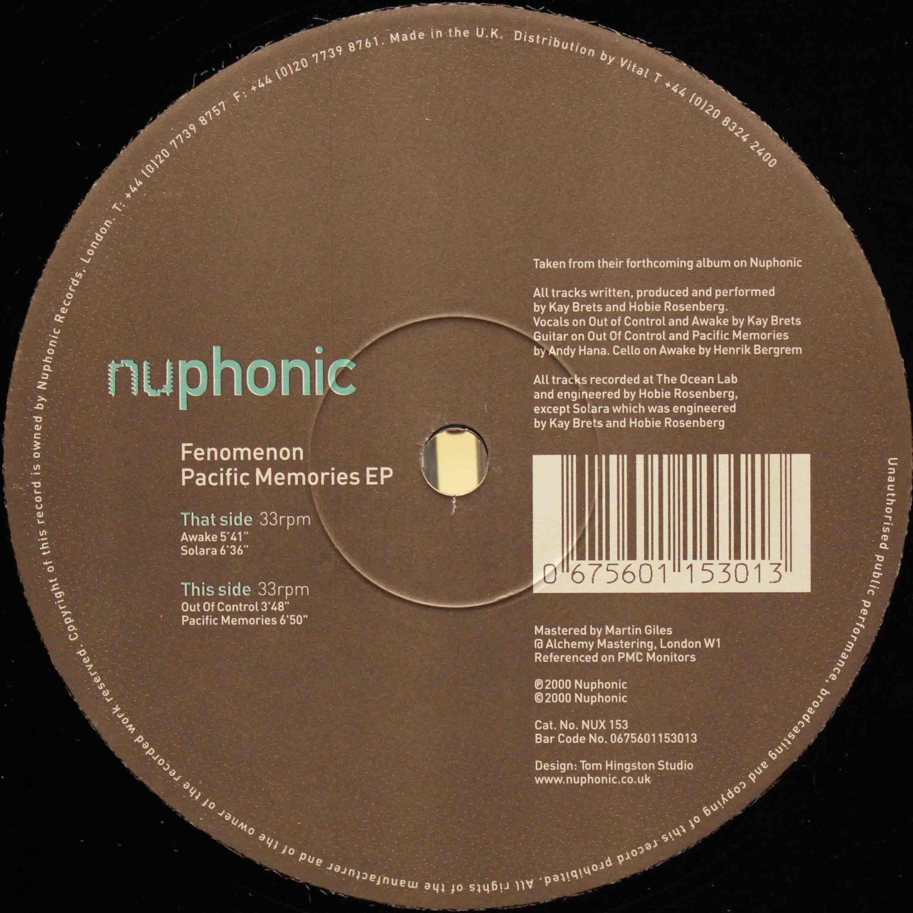 Fenomenon – Pacific Memories EP 03