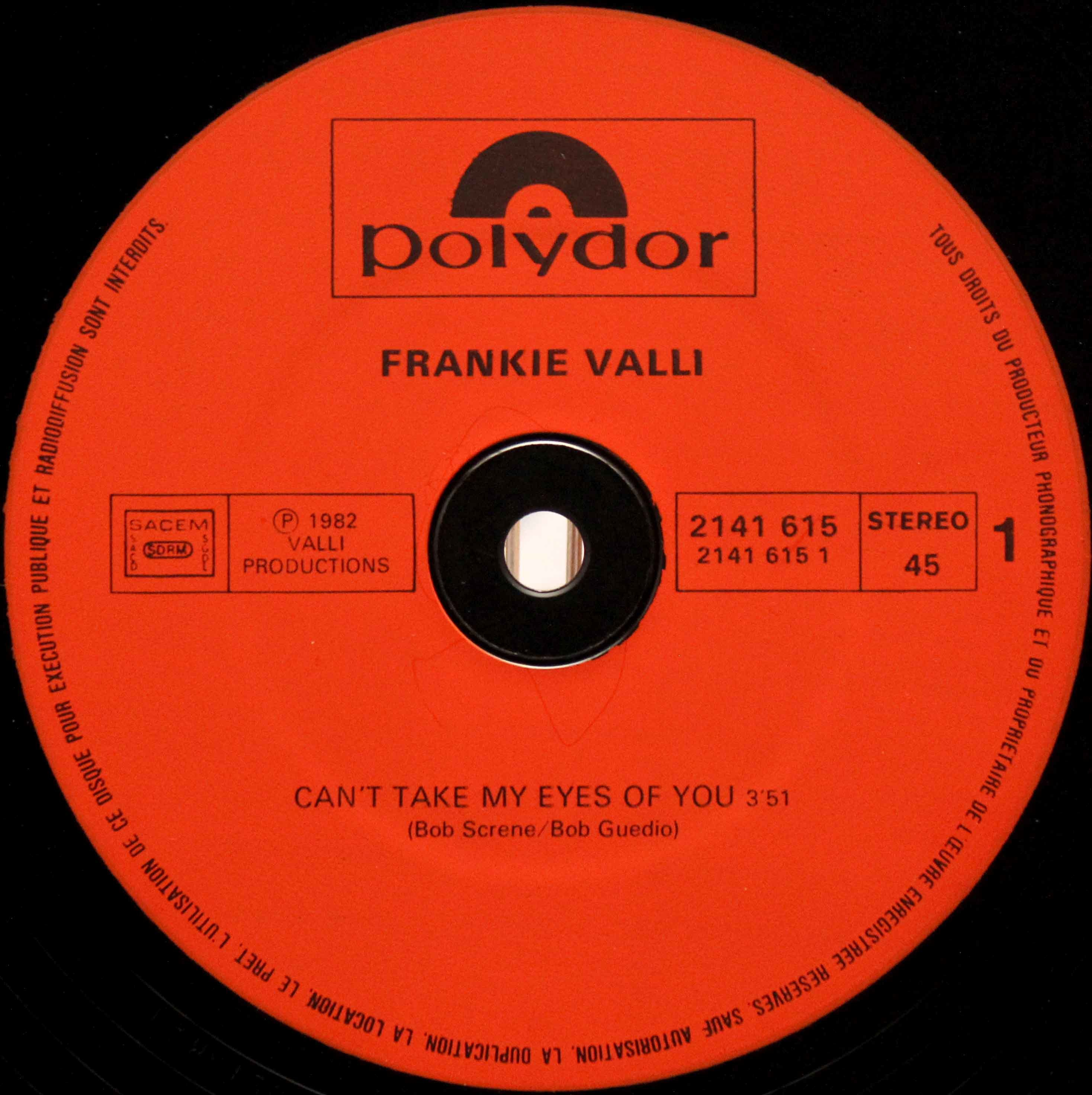 Frankie Valli - Cant Take My Eyes Off You 12 03