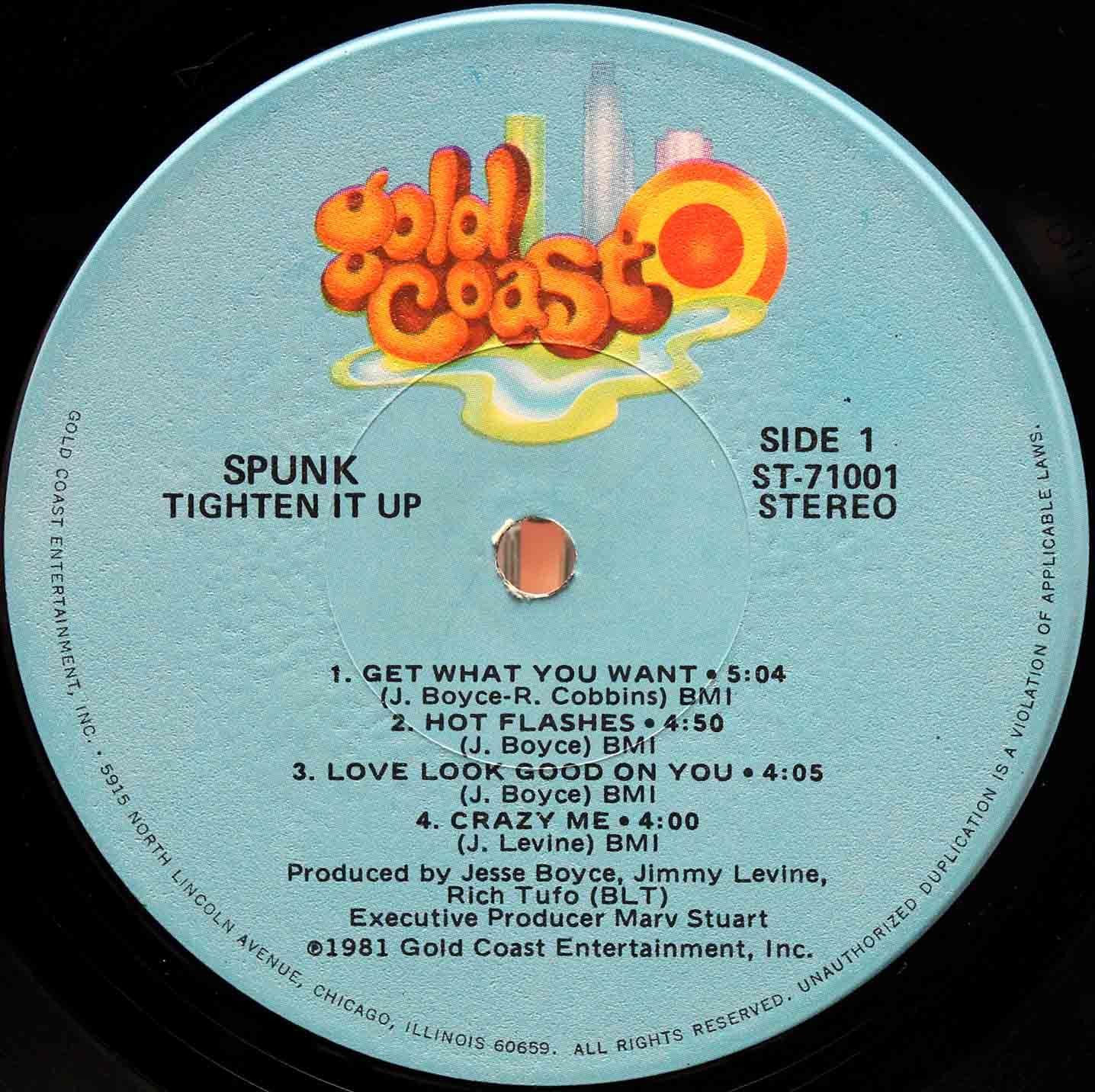 Spunk Tighten It Up LP 03