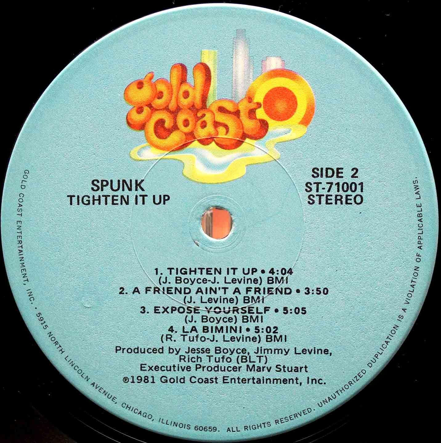 Spunk Tighten It Up LP 04