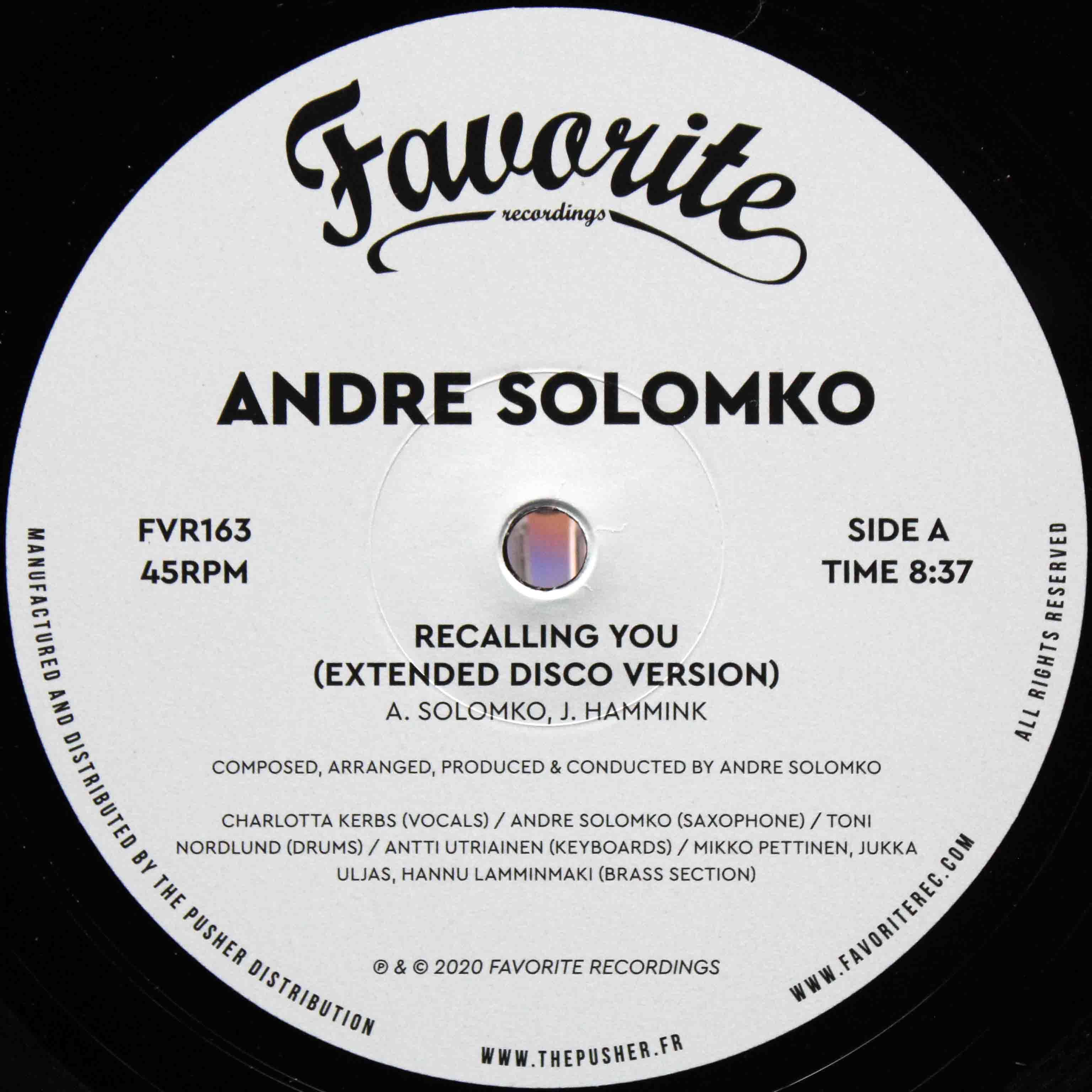 Andre Solomko ‎– Recalling You 03