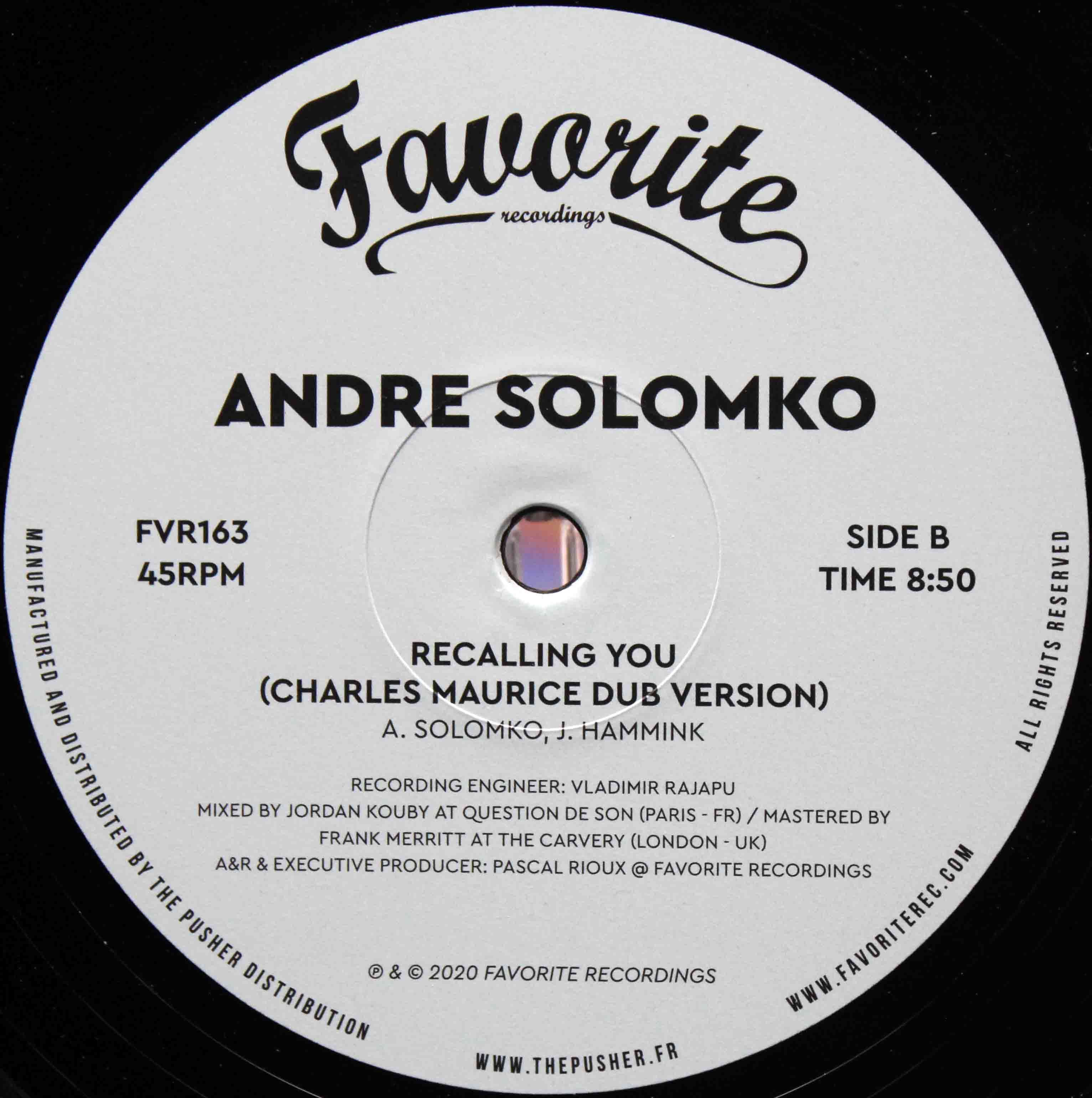 Andre Solomko ‎– Recalling You 04