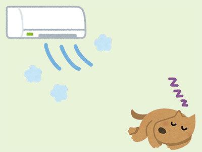 エアコン犬
