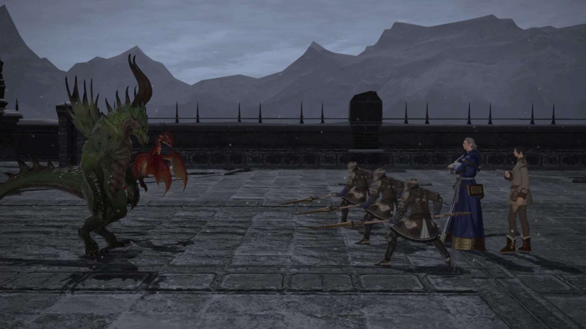 竜人と仔ドラゴン