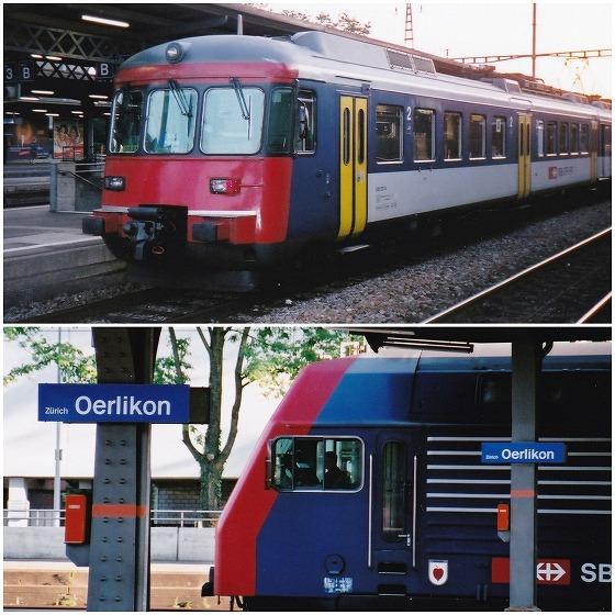 040704チューリッヒ・エルリコン駅の列車