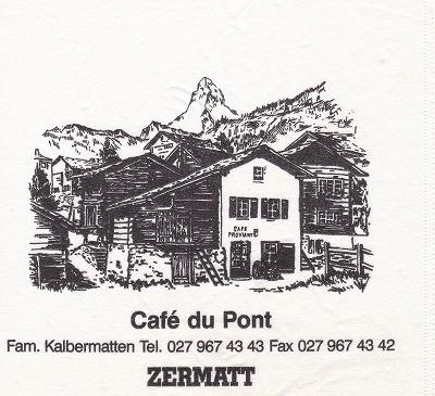 040708スイス・ツェルマット・デュポン・テーブルナプキン